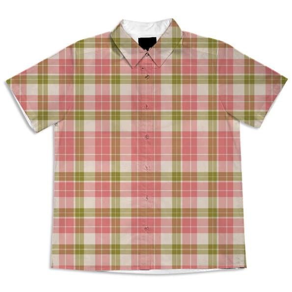 Sweet Pink and Green Plaid shirt