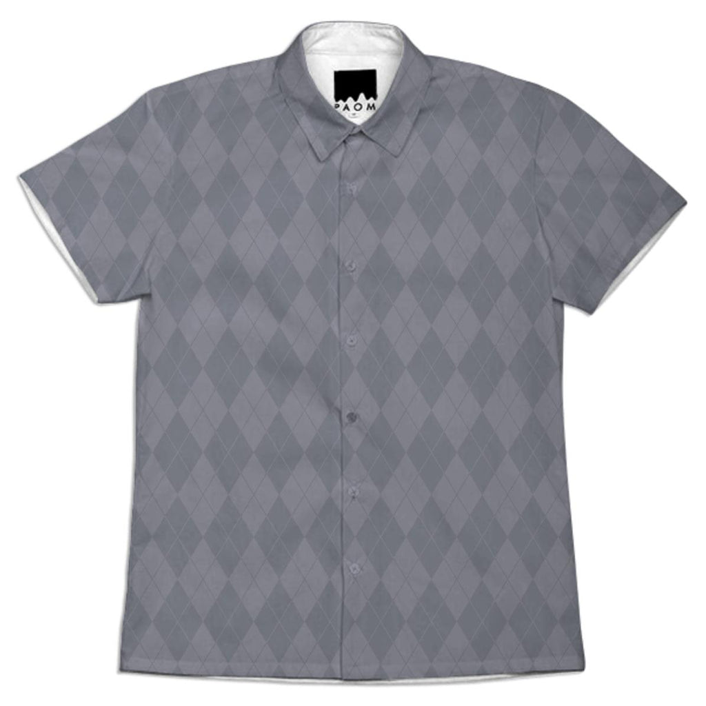 Medium Gray Argyle