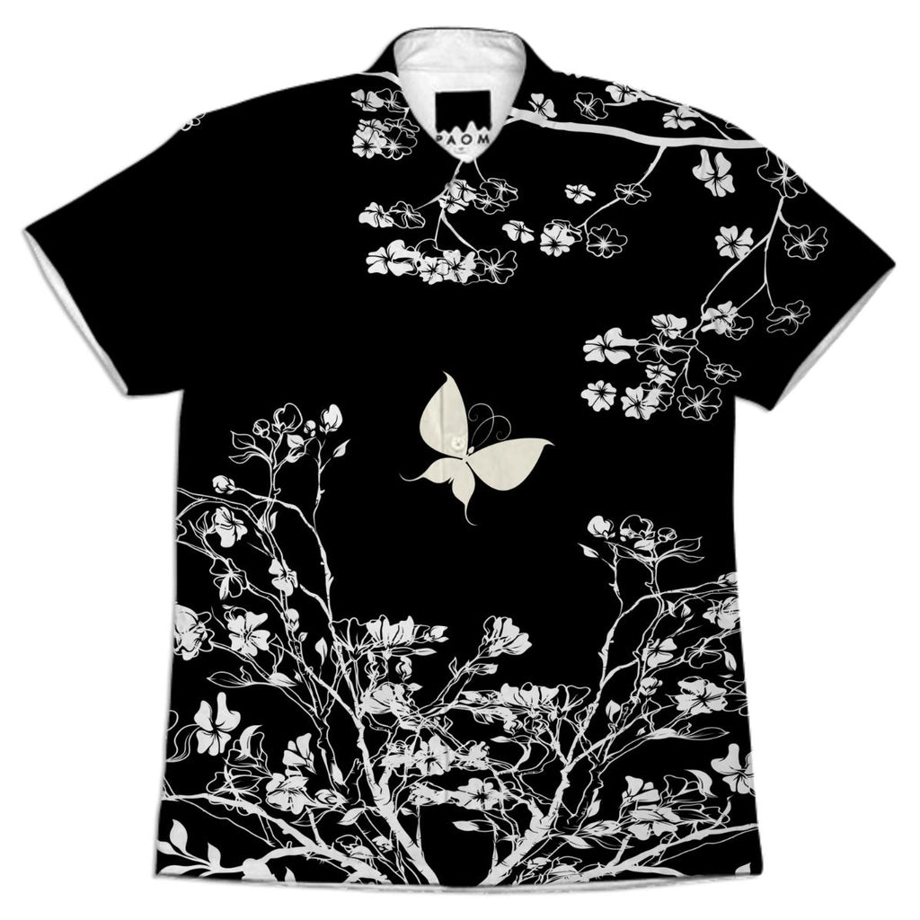 Stylish black and white Butterfly in the wild