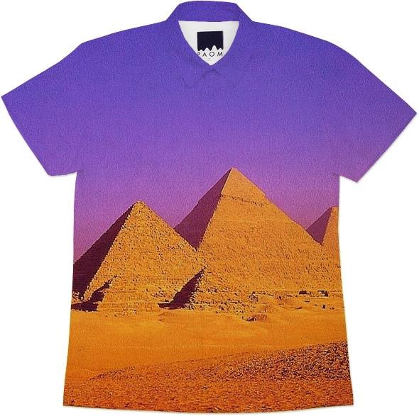 PYRAMIDS PURPLE SHORTSLEEVEWORKSHIRT