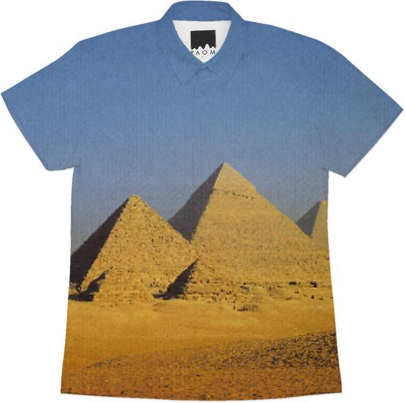 PYRAMIDS BLUE SHORTSLEEVEWORKSHIRT