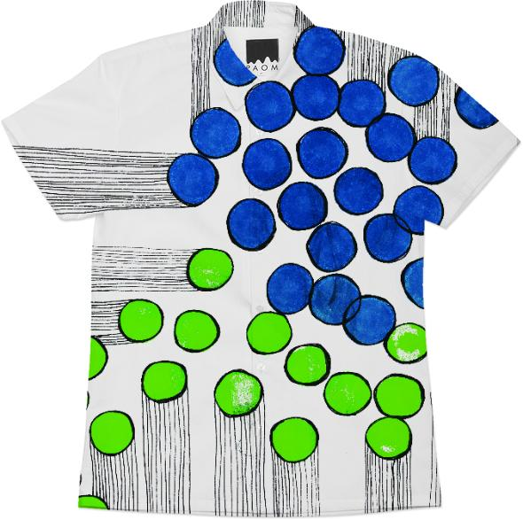 bingo burst blue green workshirt