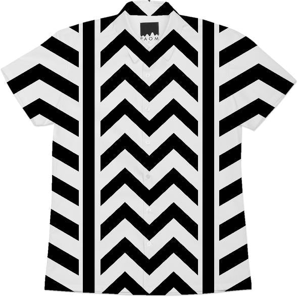 Black and white chevron and stripes design v2