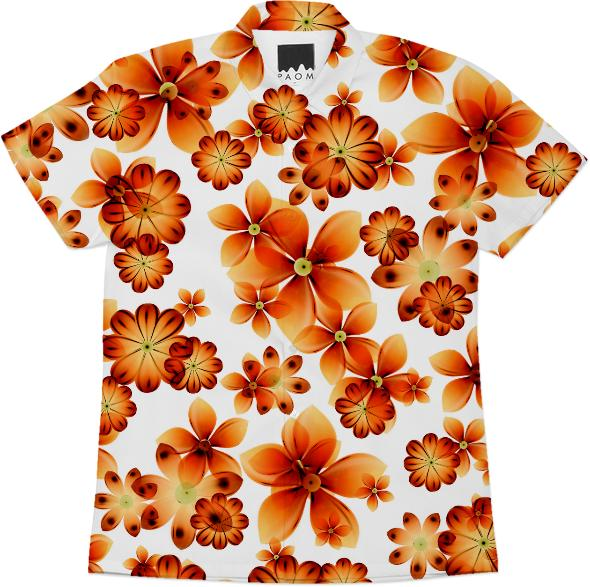 Burnt Flowers Short Sleeve workshirt by Valxart