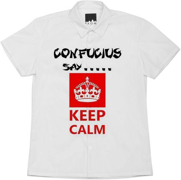 Confucius say Keep calm text typography humor