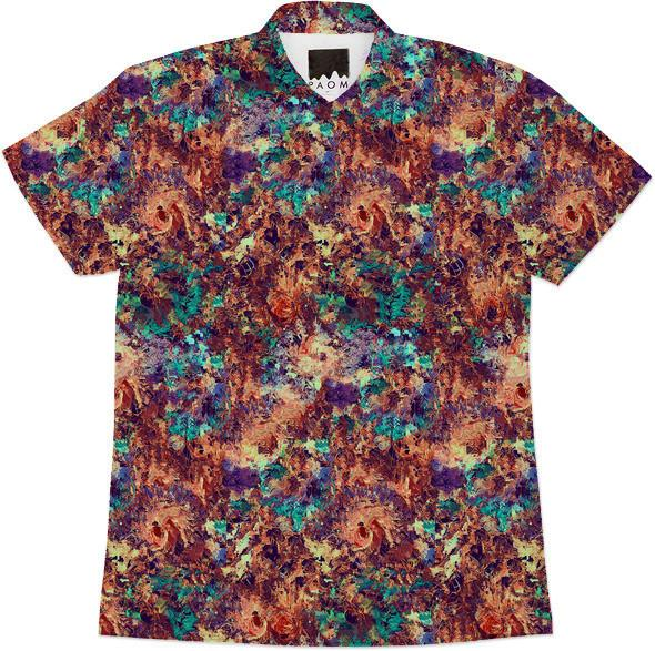 DigiFlora Alternate Colorway Short Sleeve Work Shirt