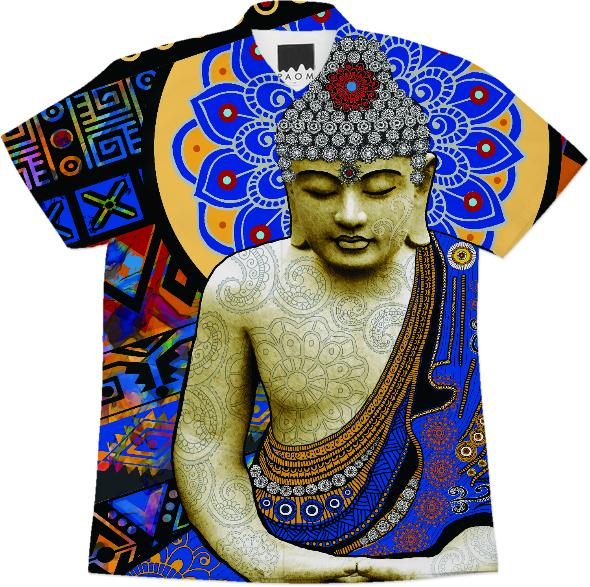 Modern Colorful Buddha Shirt Rhythm of My Mind