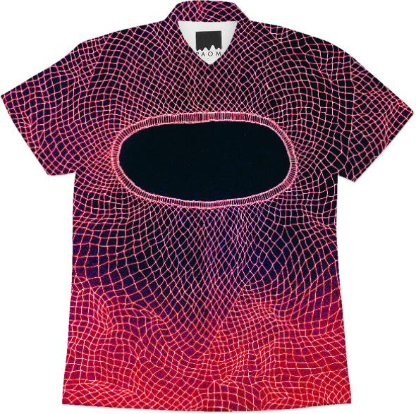 red black net workshirt