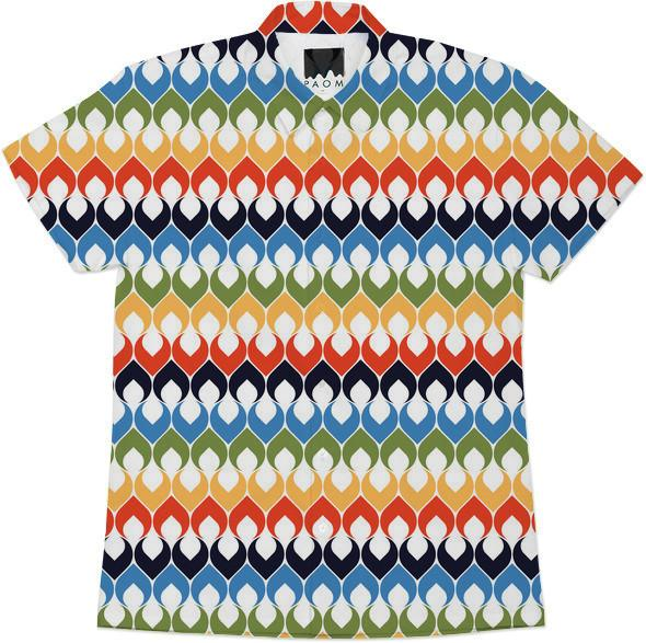 Retro Mod Multi Color Abstract