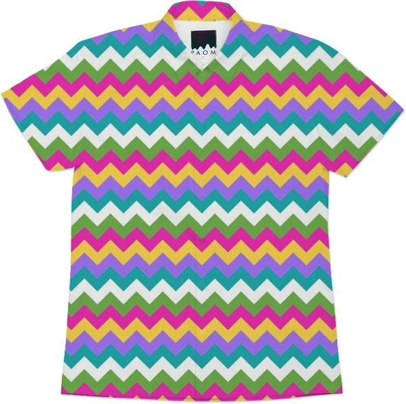 spring easter chevron colorful zigzag