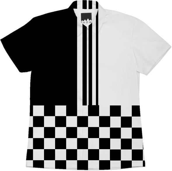 Stylish black and mod stripes and check