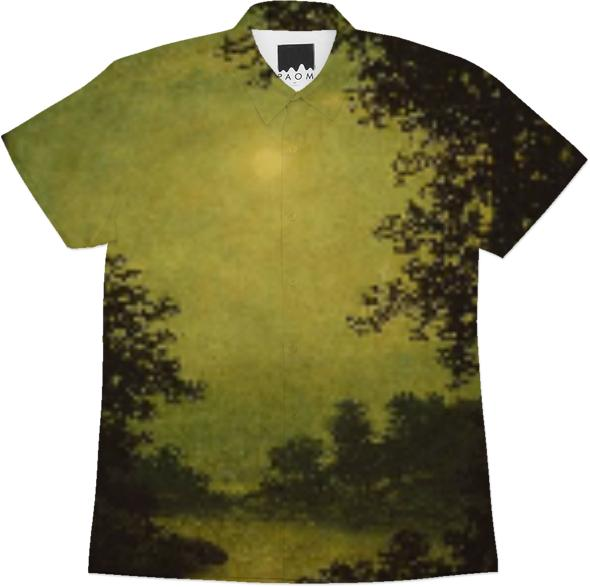 sunset tinted verdana painting workshirt
