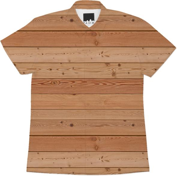 wood buttonup