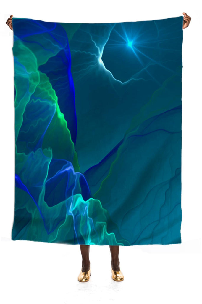 Abstract night VP SILK SCARF
