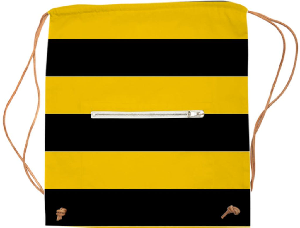 Bee Stripes Pattern Sports Bag