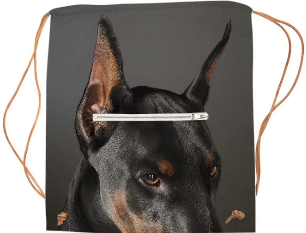 Doberman on Watch for Your Supplies