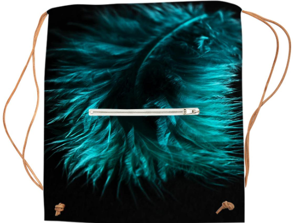 Feather in turquoise