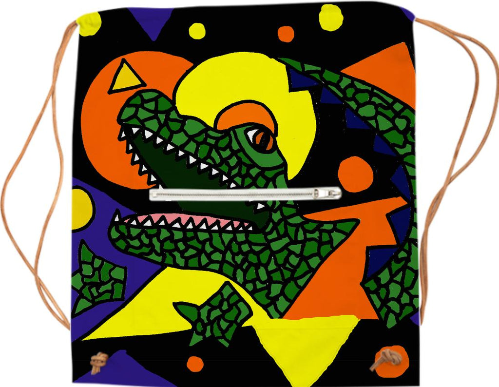 Funny Alligator Abstract Art Sports Bag