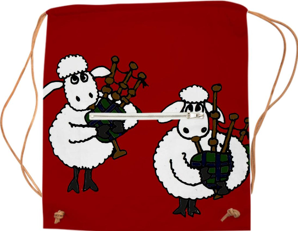 Funny Sheep Playing Bagpipes Sports Bag