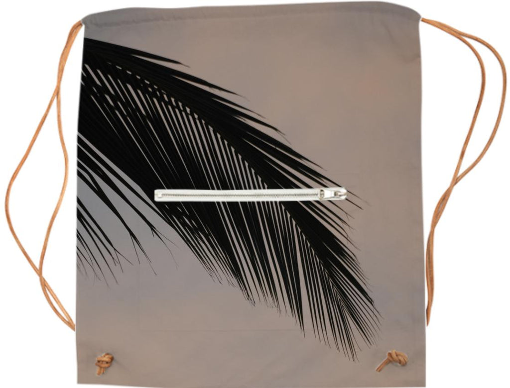 Palm leaf sport bag