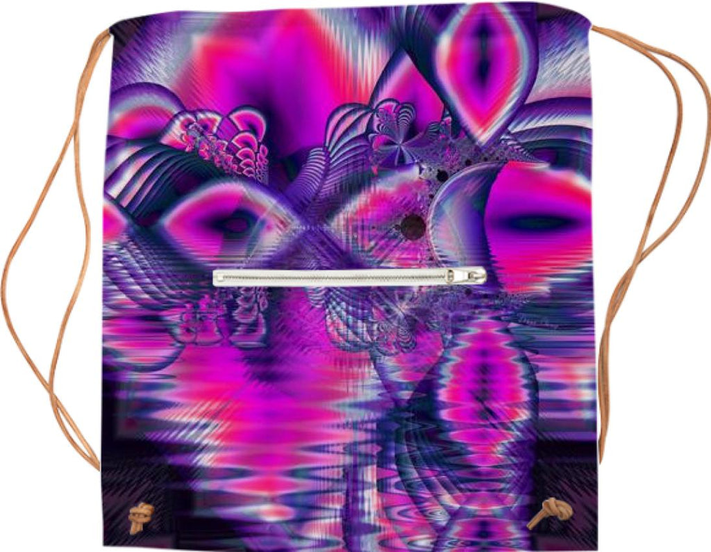 Abstract Fractal Print in Pink Sports Bag