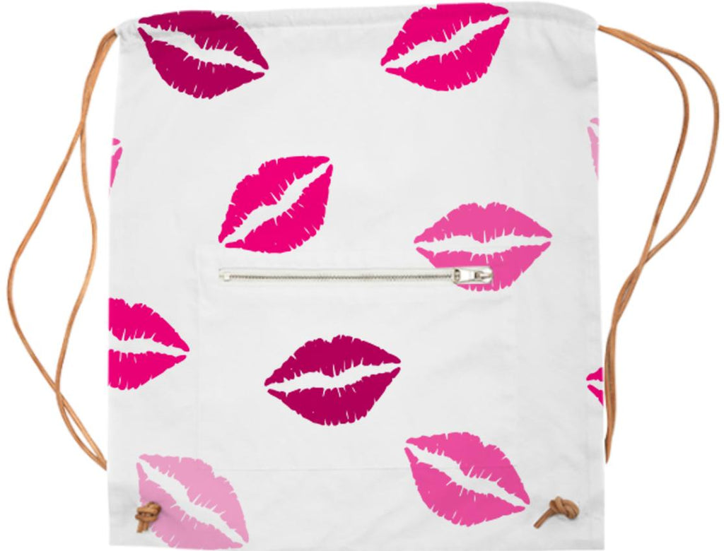SPORTS BAG PINK LIPS KISS LOVE