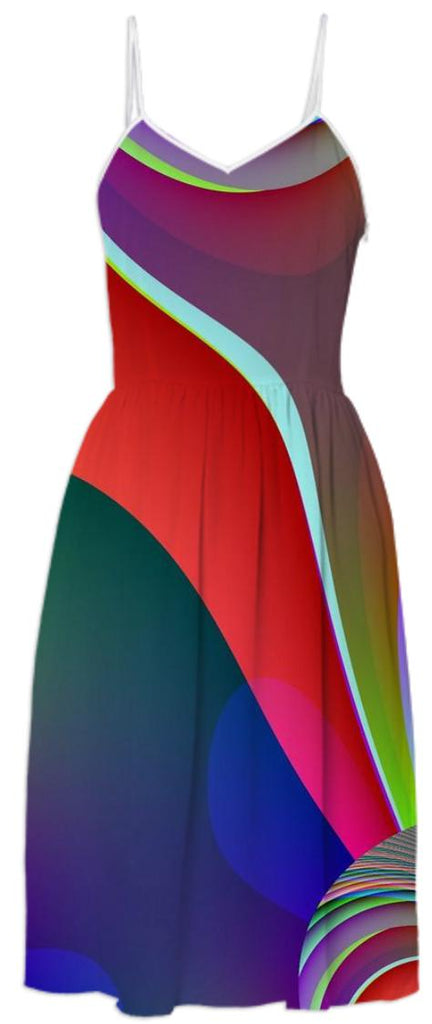 A Swish of Color Summer Dress