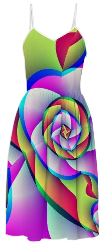 Abstract Rose Summer Dress