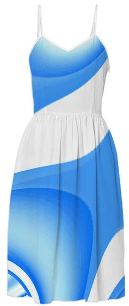 Baby I m Blue Summer Dress