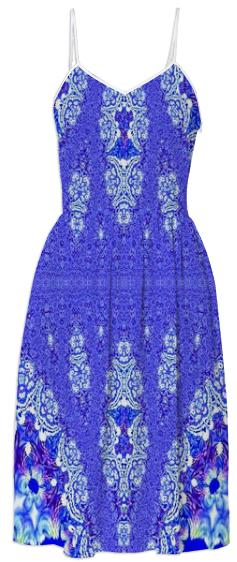 Beautiful Blue Lace Summer Dress