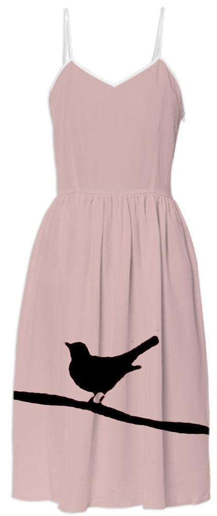 Bird on a Wire Pink Summer Dress