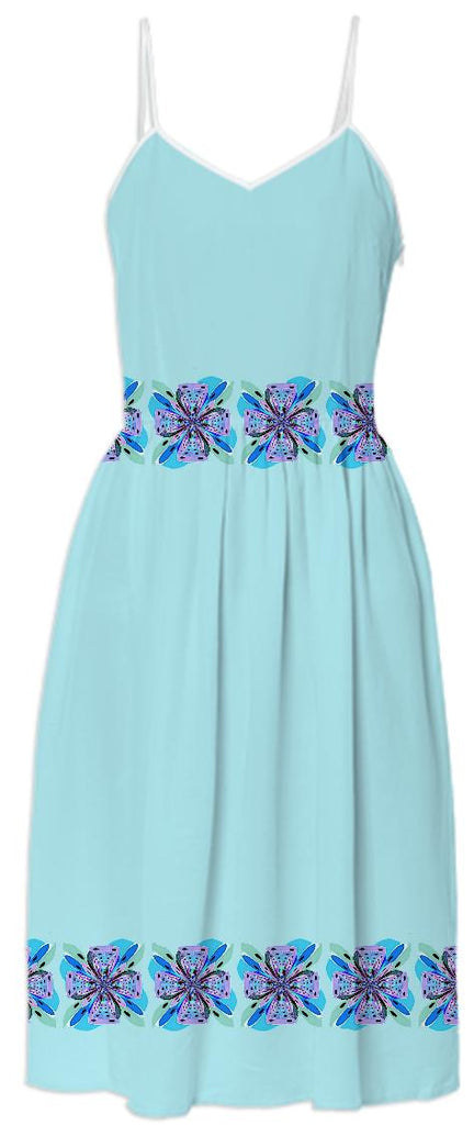 Blue Bows Summer Dress