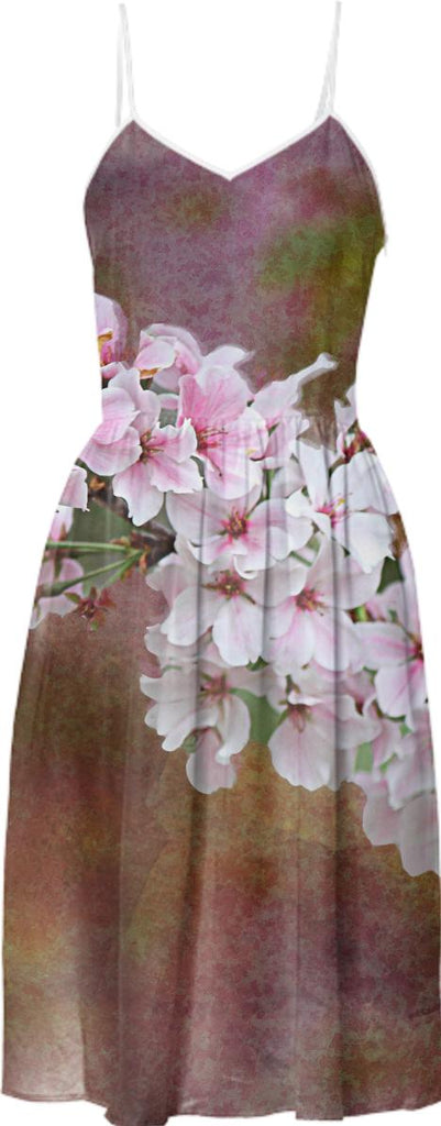 Cherry Blossom Branch Summer Dress