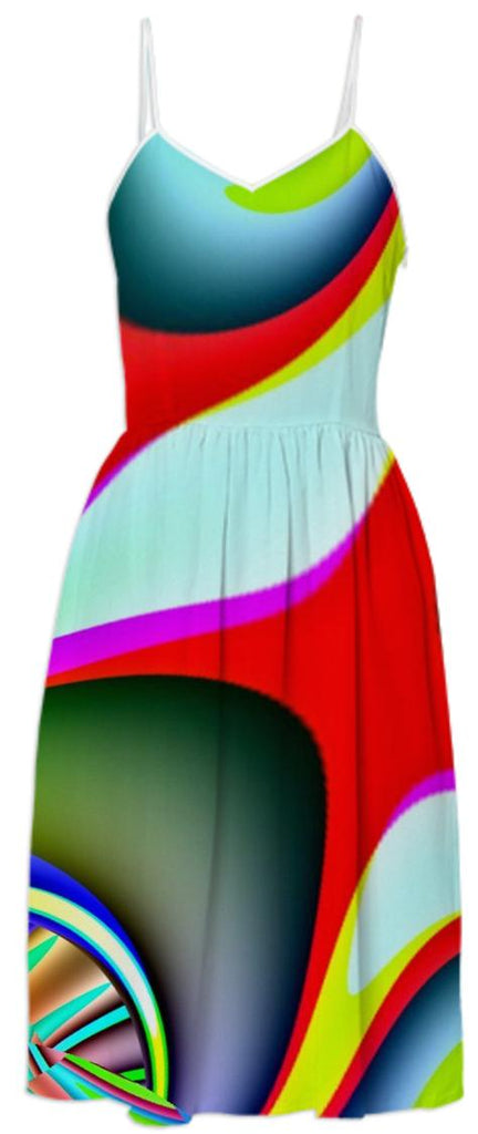Colorful Abstract Summer Dress