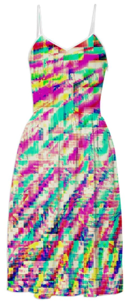 Colorful Pixel Fun Sundress
