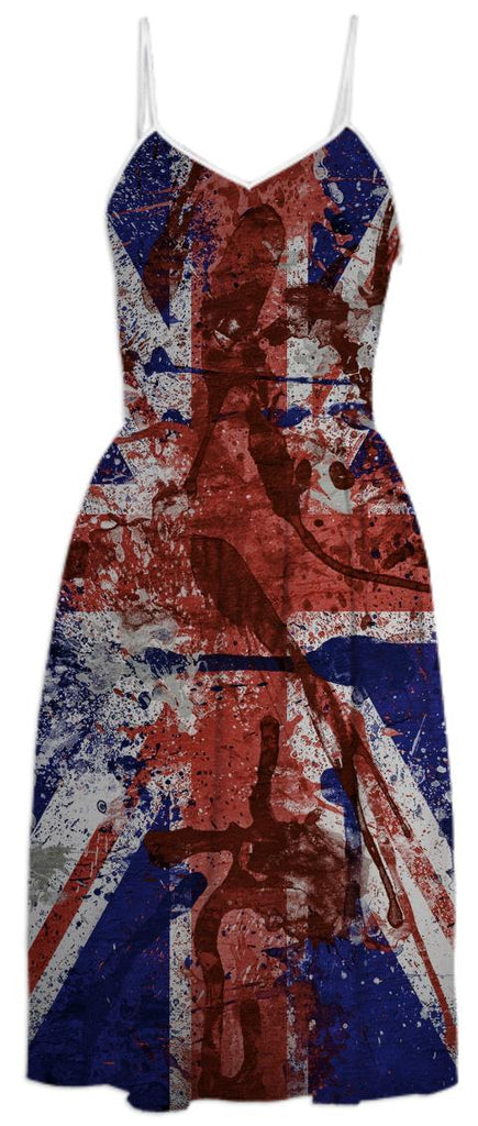 COOL GRUNGE UK FLAG Summer Dress