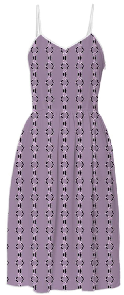 Dusty Plumb Pattern Summer Dress