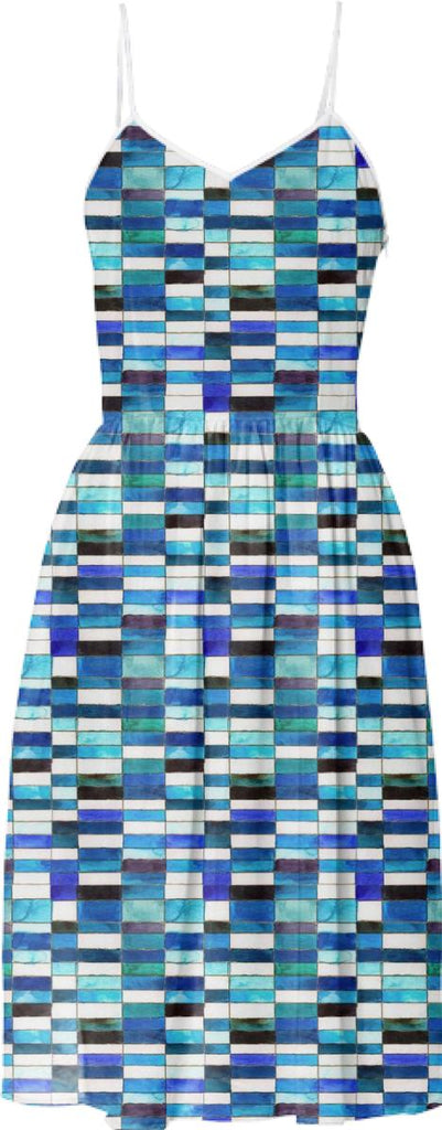 ERMIE Tile Print Dress