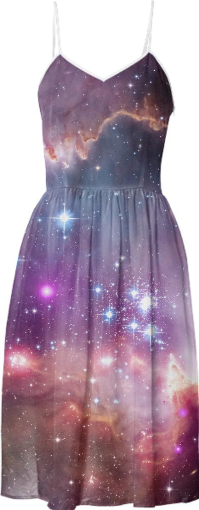 Galaxy nebula stars in space hipster summer sun dress