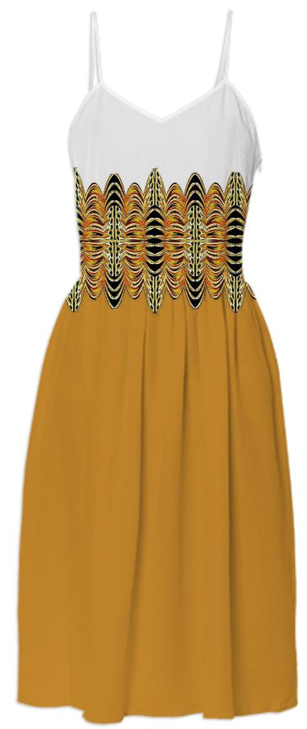 Gold Belted Summer Dress