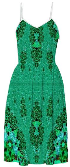 Gorgeous Green Lace Summer Dress