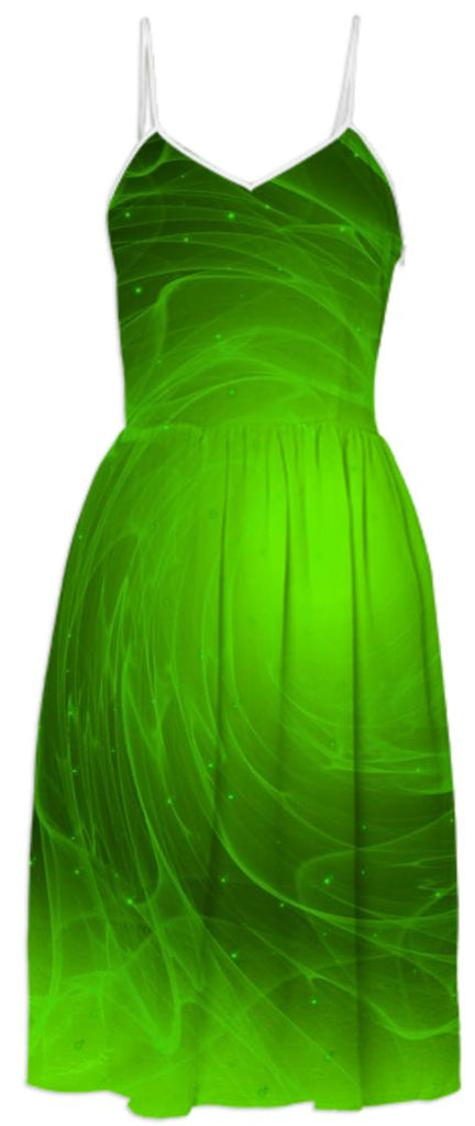 Green flare SUMMER DRESS