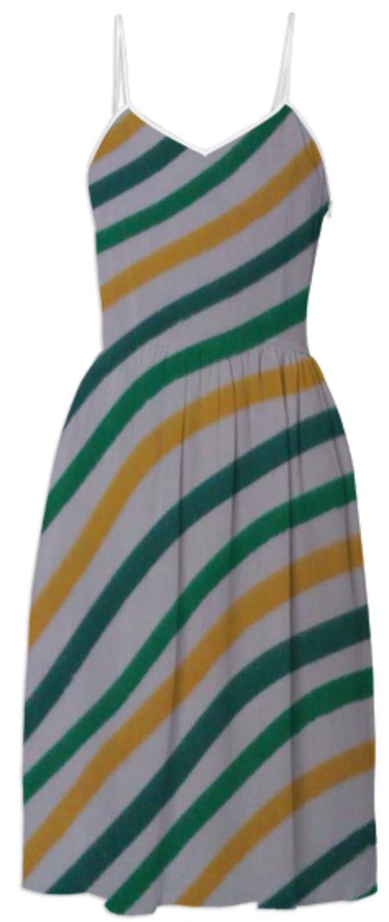 Green Yellow Stripey Dress