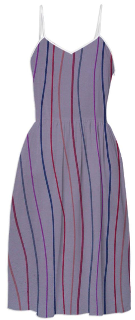 Multi Stripe Print Dress
