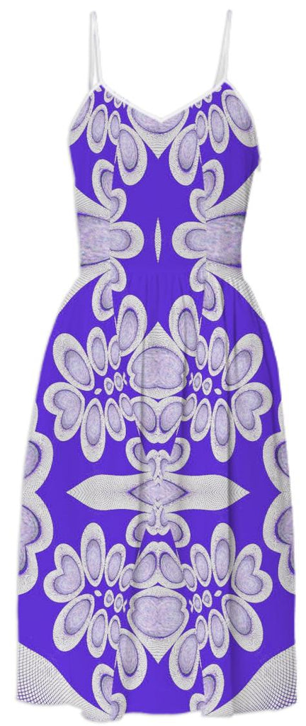 Orb Photo Fractal Purple Summer Dress