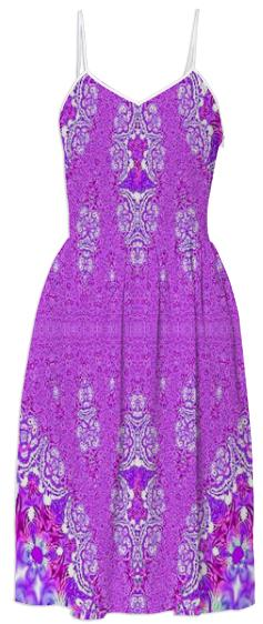 Perfect Purple Lace Summer Dress