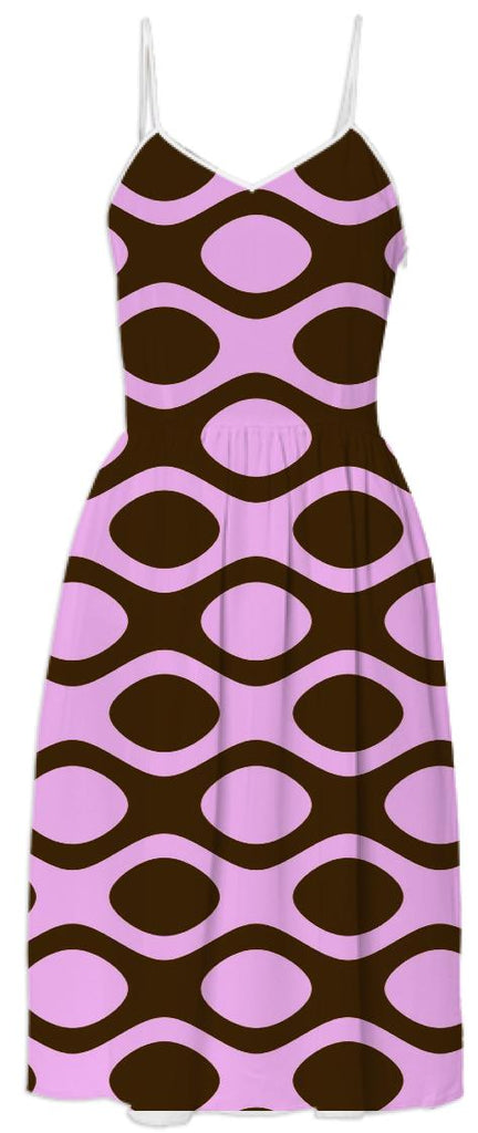Pink and Brown Patterned Dress