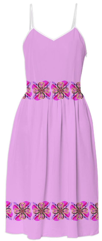 Pink Bows Summer Dress