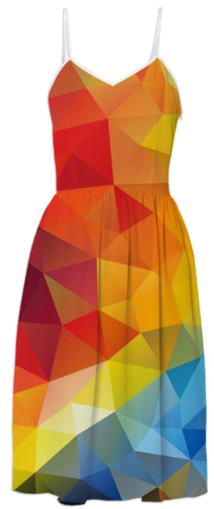 POLYGON TRIANGLES PATTERN MULTI COLOR COLORFUL RAINBOW ABSTRACT POLYART GEOMETRIC AVENUE AUTUMN ORANGE YELLOW RED