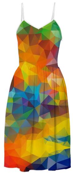 Polygon triangles pattern multi color colorful rainbow abstract